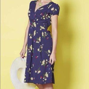 Modcloth Eucalyptus Daisy Wrap Dress